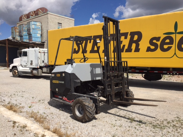 CR 45 Truck Mounted Forklift and Great Dane Flatbed